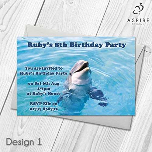 Personalised dolphin party invitations childrens swimming party personalised dolphin party invitations childrens swimming party filmwisefo