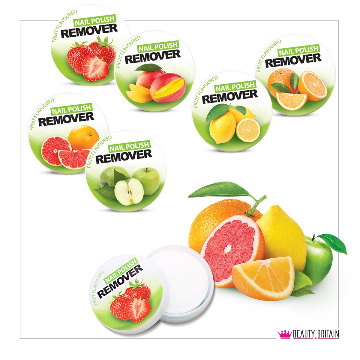6 x Nail Polish Varnish Remover Tubes Acetone Free Fruity Scented UK Seller B4B