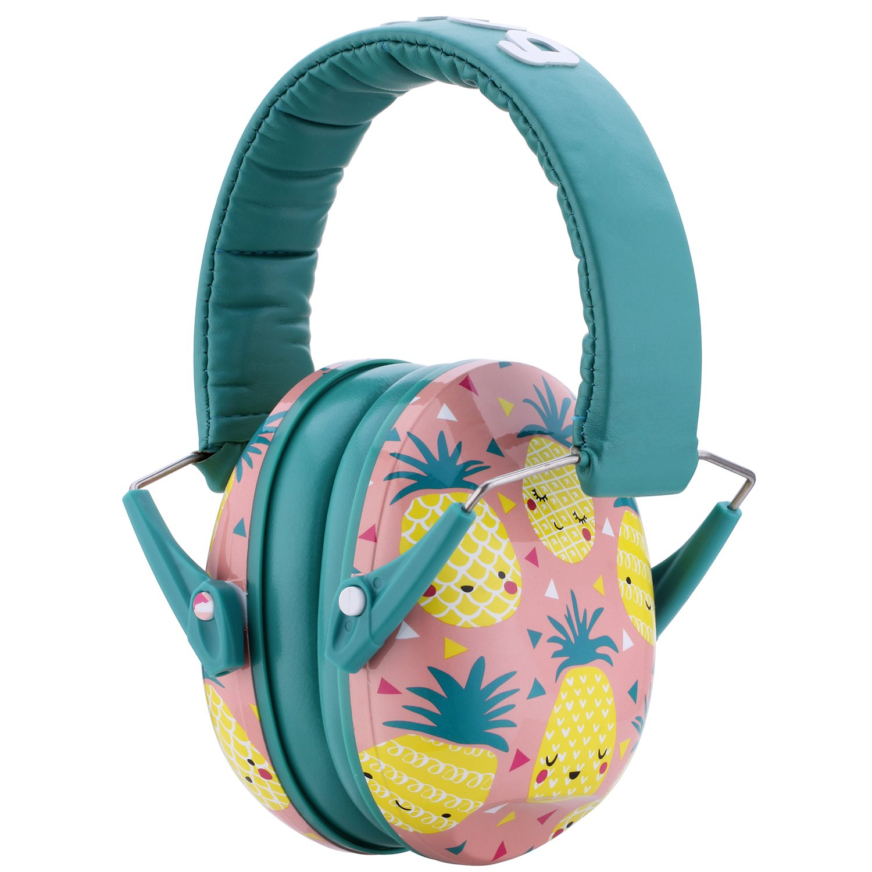 Snug Kids Earmuffs/Hearing Protectors – Adjustable Headband Ear Defenders for Children and Adults (Pineapples)