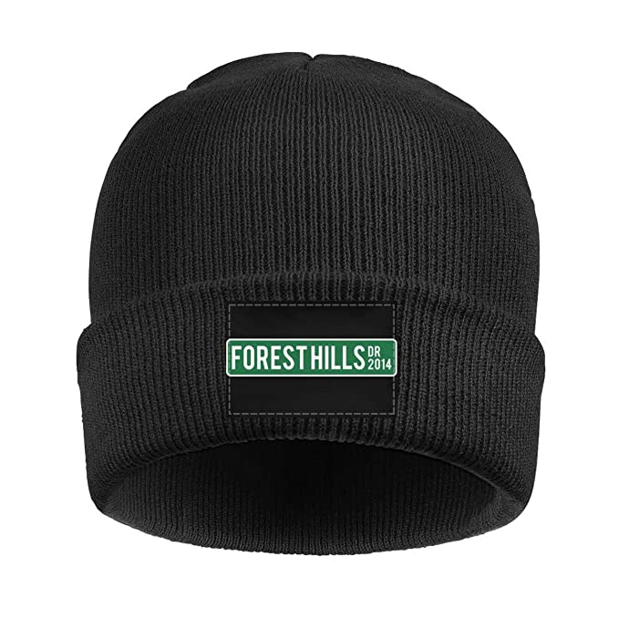2502f7b5ba340 Beanie Hat for Men Forest-Hills-J-Cole- Soft Beanie Knit Cap Hat at Amazon  Men s Clothing store