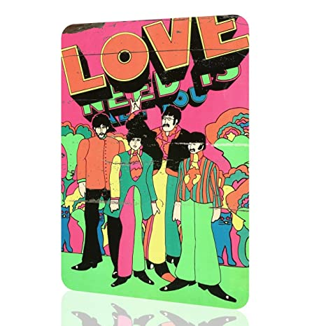 Metal Sign Peter Max The Beatles All You Need Is Love Amazing Collectors  Wall Art Rusted