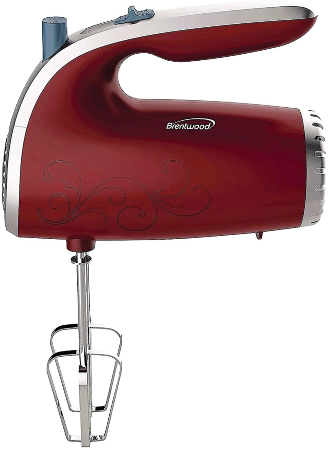 Brentwood Electric Hand Mixer, Red
