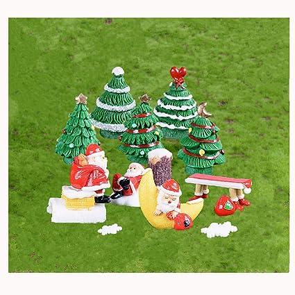 Christmas Succulent Decor.Amazon Com Boomteck Miniature Garden Ornaments 14 Pcs Cute