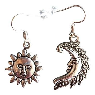 Jewelry & Accessories New Fashion Simple Jewelry Gold & Silver Moon & Sun Crescent & Full Moon Metal Stud Earrings For Women Stud Earrings