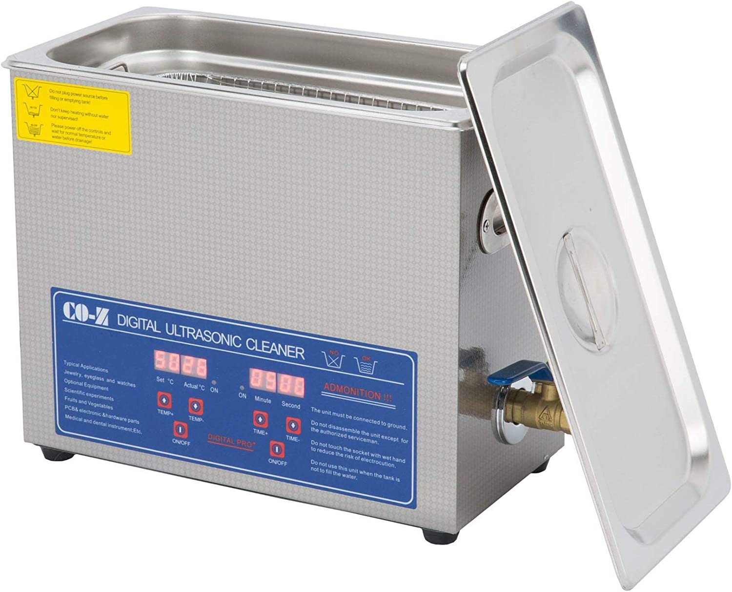CO-Z 6L Professional Ultrasonic Cleaner