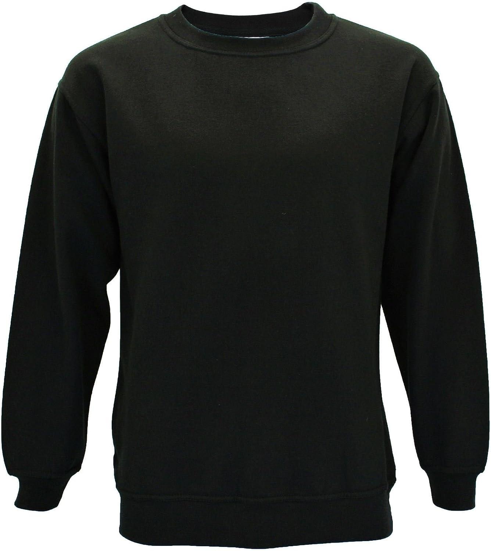 Absolute Apparel Mens AA24 Regular Big Size Gym Sterling Sweatshirt Crew Neck