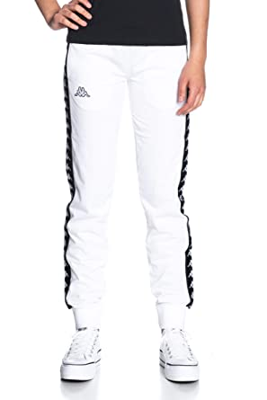 Kappa 303R5K0 222 Pantalones de chándal Mujer Blanco/negro XS ...