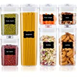 Airtight Food Storage Containers,Vtopmart 7 Pieces BPA Free Plastic Cereal Containers with Easy Lock Lids,for Kitchen Pantry