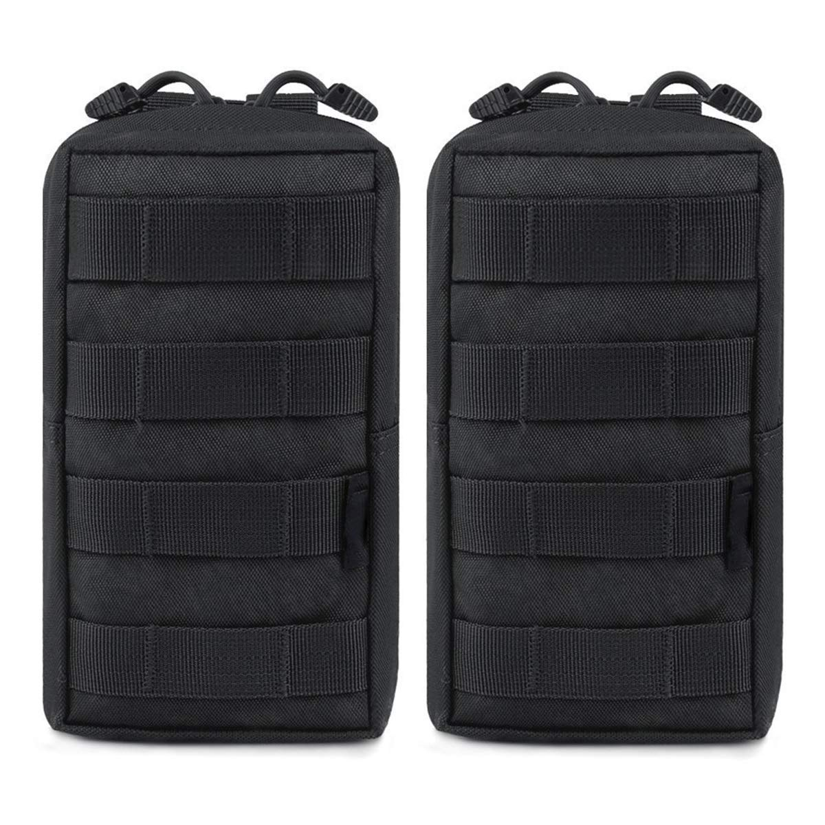 Color : Khaki 2 Pack Molle Pouches Tactical Compact Water-Resistant EDC Pouch ACU//CP Camouflage