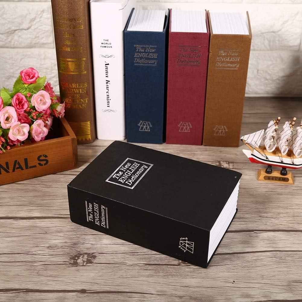 Negro Caja de Seguridad del Libro de simulaci/ón Security Lock Dictionary Safe Secret Book con Cerradura de combinaci/ón Contenedor de Almacenamiento port/átil por Dinero Documentos.