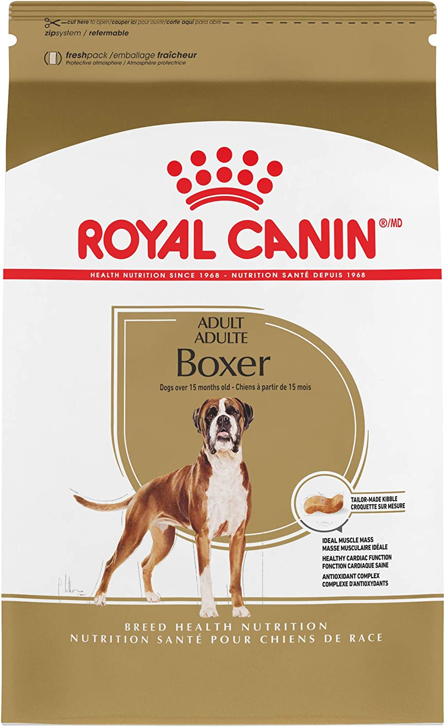 Royal Canin Boxer Adult Breed Specific Dry Dog Food, 17 lb. bag