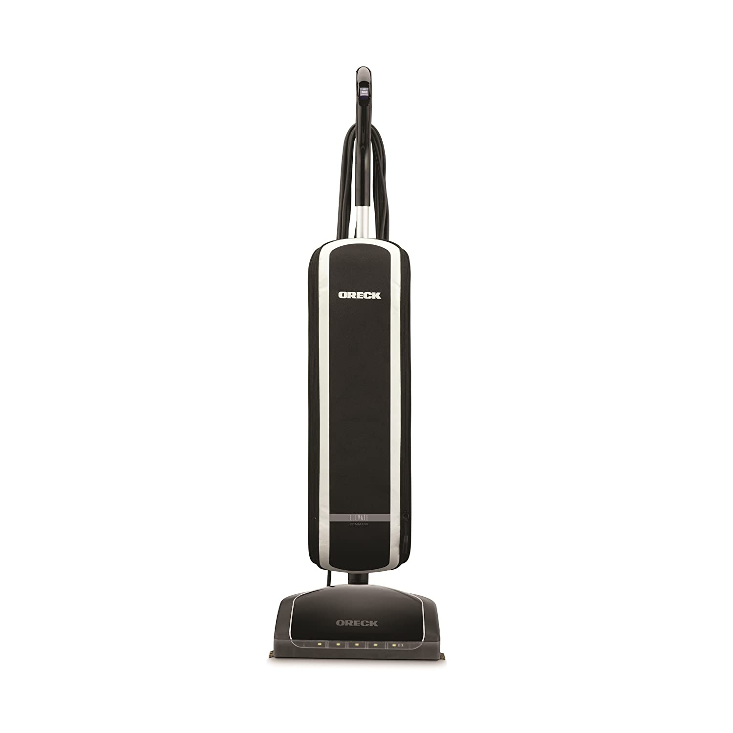 Oreck Elevate Command Bagged Upright Vacuum Cleaner, Lightweight, 30ft Power Cord, UK30200, Black