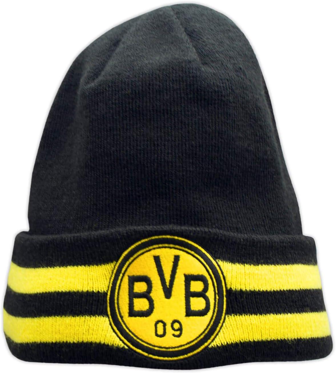 Borussia Dortmund BVB 09 Fanartikel Wendem/ütze M/ütze Beanie schwarz-gelb f/ür Kinder
