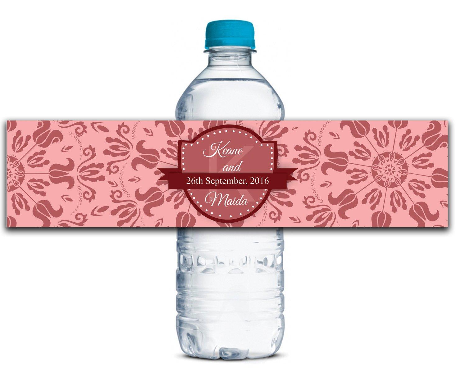 Personalisierte Wasserflasche Wasserflasche Wasserflasche Etiketten Selbstklebende wasserdichte Kundenspezifische Hochzeits-Aufkleber 8  x 2  Zoll - 70 Etiketten B01A0W3WHA | Schön geformt  f88c8b