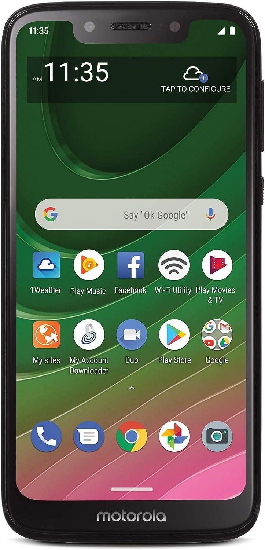 Tracfone Motorola Moto G7 Optimo 4G LTE Prepaid Smartphone (Locked) - Black - 32GB - SIM Card Included - CDMA