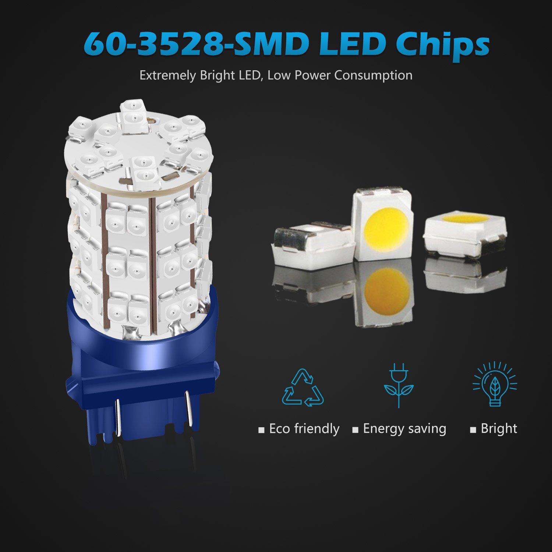 Amazon.com: Partsam 1Pair Blue 3156 3157 Backup Reverse Light 3357 ...