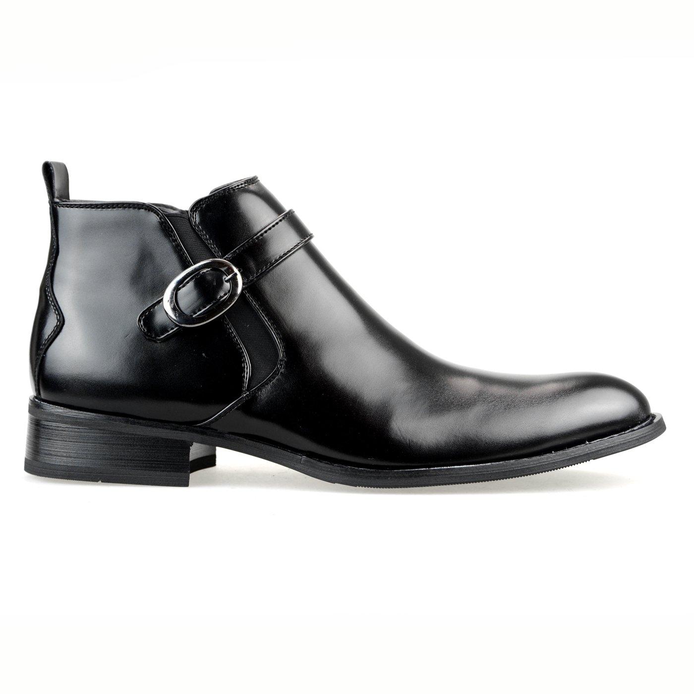【11960円相当】 撥水加工 低反発 45組から選べる2足セット ビジネスシューズ ビジネスブーツ ショートブーツ ビジネス メンズ 靴 紳士靴 福袋 2018 [ エムエムワン ] MM/ONE 【AZF30B】 B01G6CNXCW 25.5 cm 3E|Cブラック+Cダークブラウン Cブラック+Cダークブラウン 25.5 cm 3E