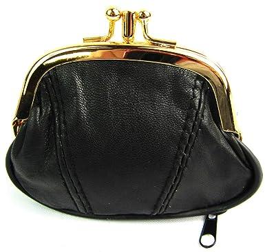 16eb90cae34b Ladies Leather Clip Top Purse