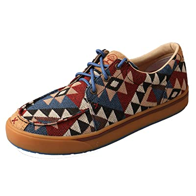 Amazon.com : Twisted X Mens Hooey Pattern Canvas Shoes : Sports & Outdoors