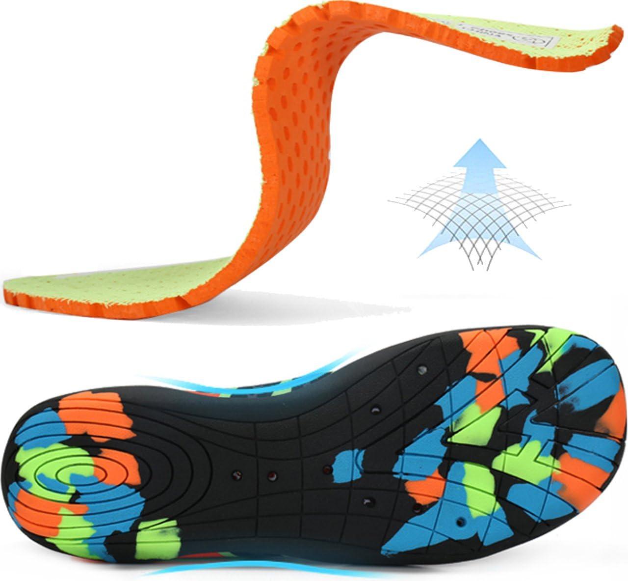 Blue 44 Gaatpot Badeschuhe Damen Herren Strand Aquaschuhe Wasserschuhe Surfschuhe rutschfest Strandschuhe Schwimmschuhe Sommer Aqua Schuhe Blau