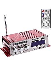 WINGONEER 12V Hi-Fi Stereo amplificador de audio digital de DVD USB SD FM estéreo audio MP3 de radio del coche del altavoz de Bluetooth Amplificador