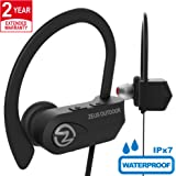 ZEUS Wireless Bluetooth Headphones IMPROVED 2018 - Best Wireless Earbuds w/Mic Noise Cancelling - Workout Headphones - Running Headphones - Sport Headphones - IPX7 Waterproof Headphones for Women Men