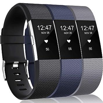 Amazon.com: Wepro bandas compatibles con Fitbit Charge 2 HR ...