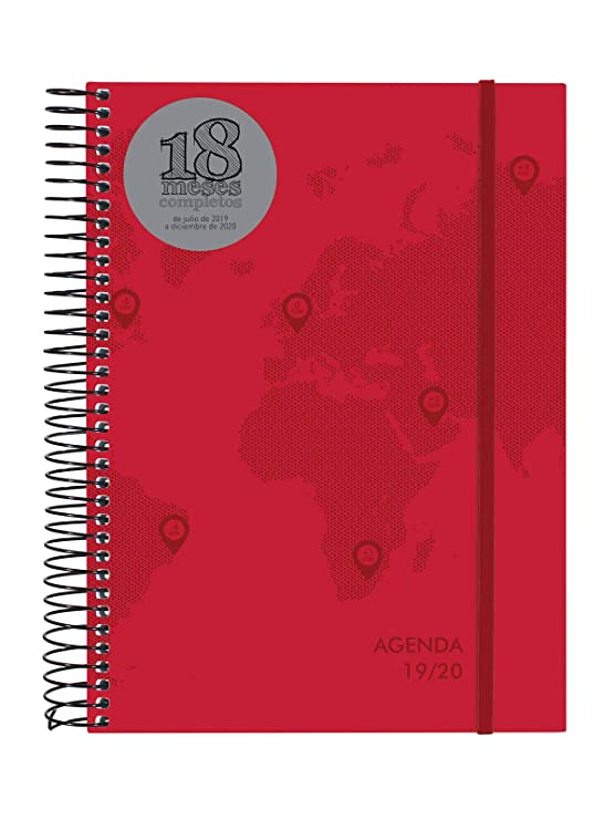 Amazon.com : Agenda 18 Months 2019-2020 2 Days Spanish Page ...