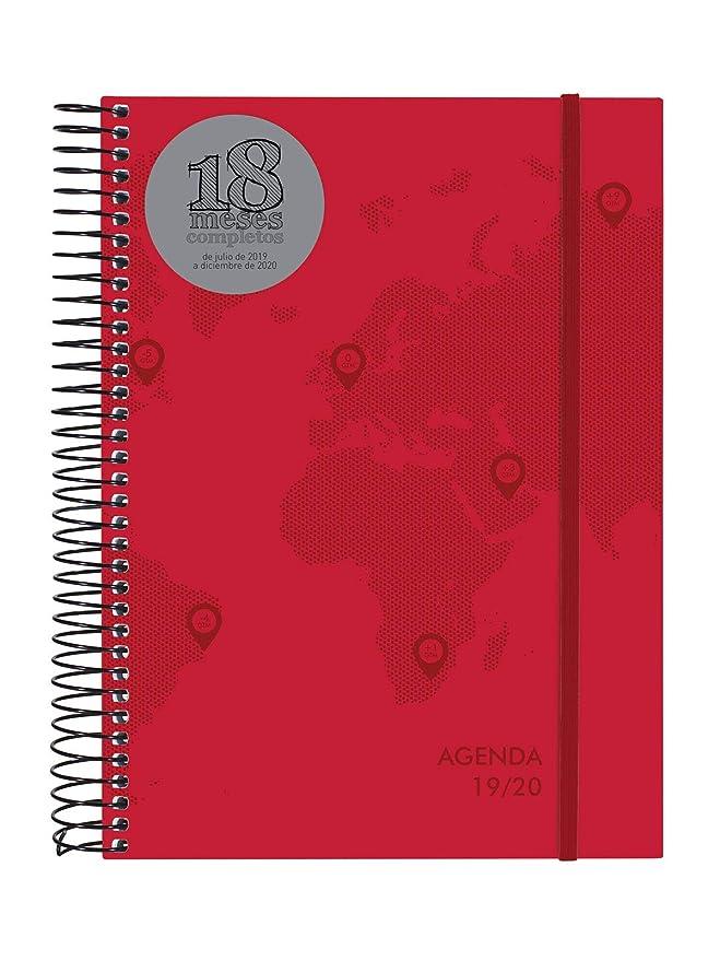 Agenda 18 meses 2019-2020 2 días página español