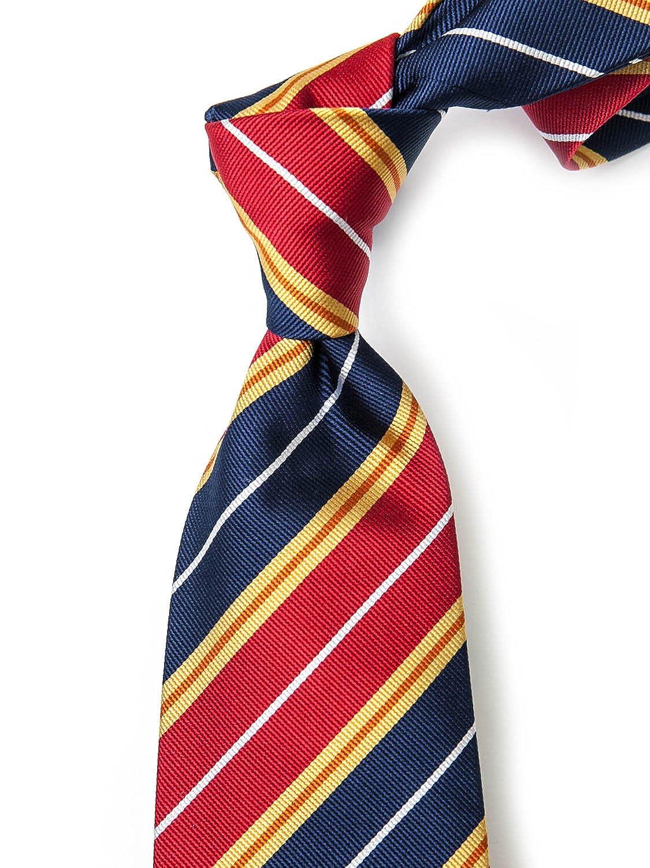 Gold with Periwinkle ROBERT JENSEN Finest Silk Handmade Mens Neck Tie Woven Bold Double Stripe