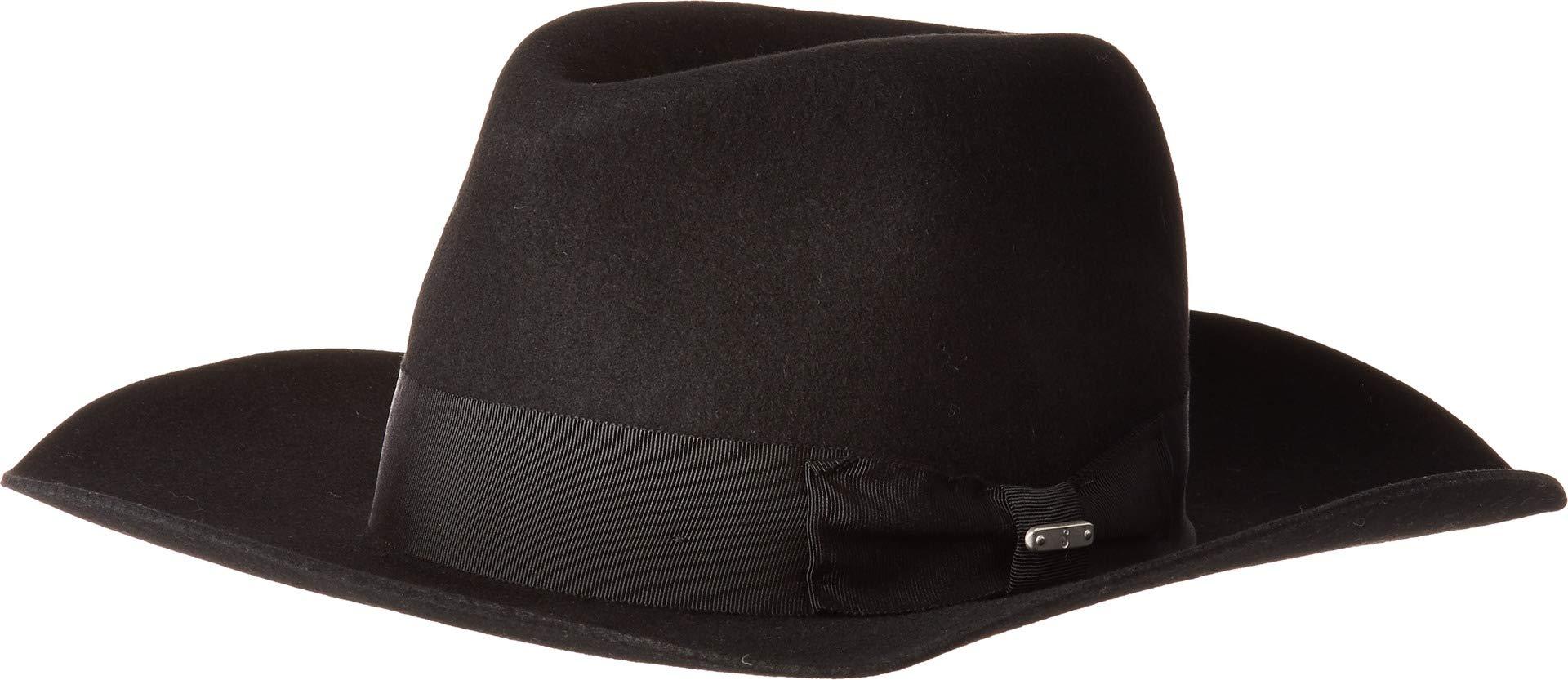 San Diego Hat Company Women's Wide Flat Brim Fedora Hat, Black, One Size
