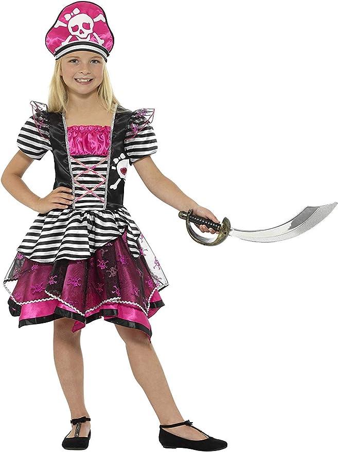 Smiffys Smiffys-21981L Disfraz Pirata para Chica, con Vestido y ...