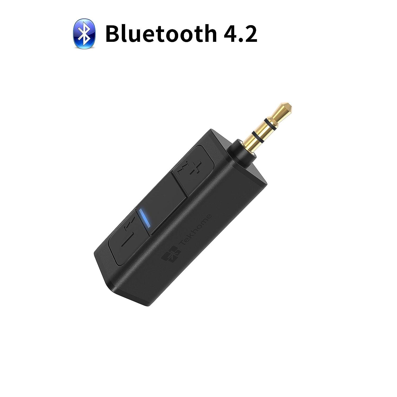 TekHome Recepteur Bluetooth 4.2, Jack Bluetooth, Kit Bluetooth Voiture, Adaptateur Bluetooth Voiture Mini, Kit Main Libre Bluetooth, Adaptateur Audio Bluetooth pour Casque/Autoradio. TH-BR110