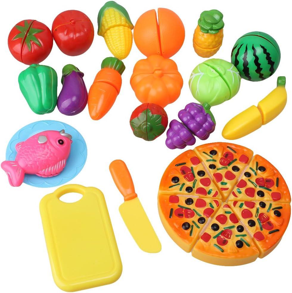 6X//set Kitchen Fruit Vegetable Food Pretend Role Play Cutting Set Toys Affordabl