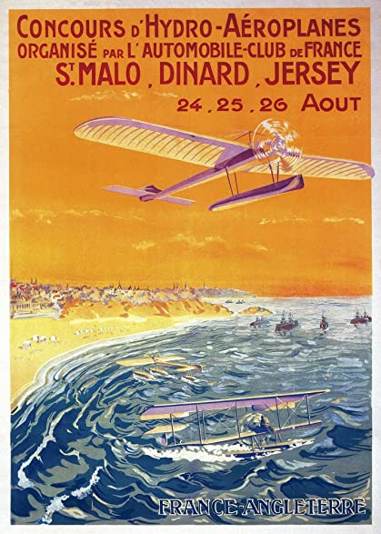 Amazon.com: View of Float Planes in Air and Water Poster (12x18 ...