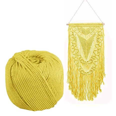 170 mx 4 mm cuerda de algodón para tejer cuerda de bricolaje Bohemia  macrame decoración de pared artesanía hecha a mano negro  Amazon.es  Hogar 778ed243f23