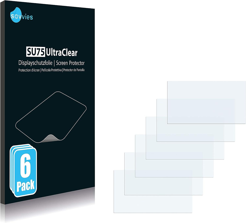 savvies 6-Pezzi Pellicola Protettiva Compatibile con Audi A5 8T 2008 MMI 3G Low Protezione Schermo Trasparente
