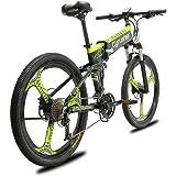 """Extrbici Bicicleta de montaña MTB XF770 17 * 26""""Bicicleta eléctrica Plegable Montaña 250 vatios 48V Shimano 27 Velocidad Marco de aleación de Aluminio Suspensión Plegable Doble Freno mecánico"""