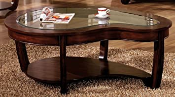 Ordinaire Furniture Of America CM4336C Crystal Falls Dark Cherry Coffee Table