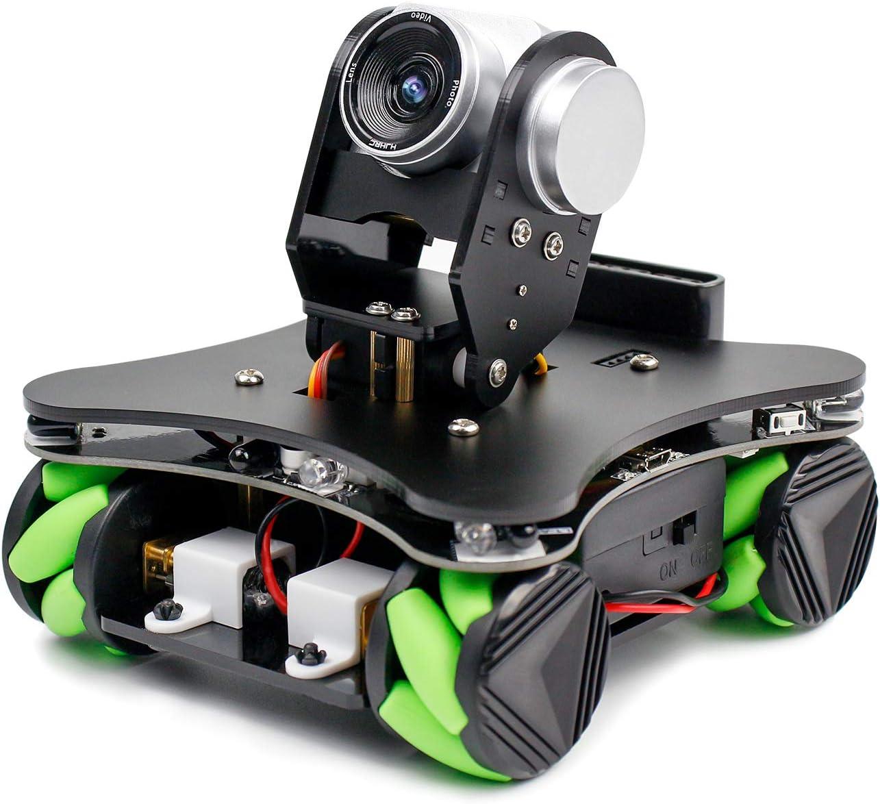 Yahboom Coding Mecanum Wheel Smart Robot Kit Whit FPV Camera, DIY Omnidirectional Car for UNO R3