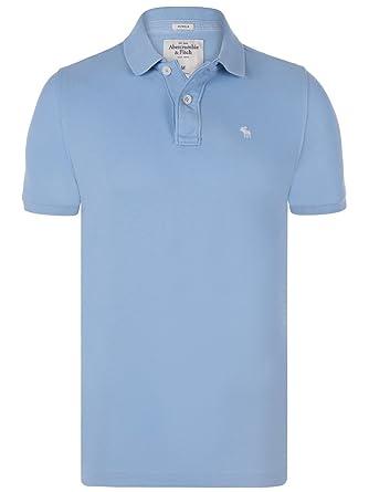 Abercrombie & Fitch - Polo - para hombre azul turquesa M: Amazon ...