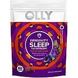 Olly Immunity Sleep Gummy Melatonin Elderberry Echinacea Zinc and Vitamin C Chewable Supplement Sleep Aid, Purple, Midnight B