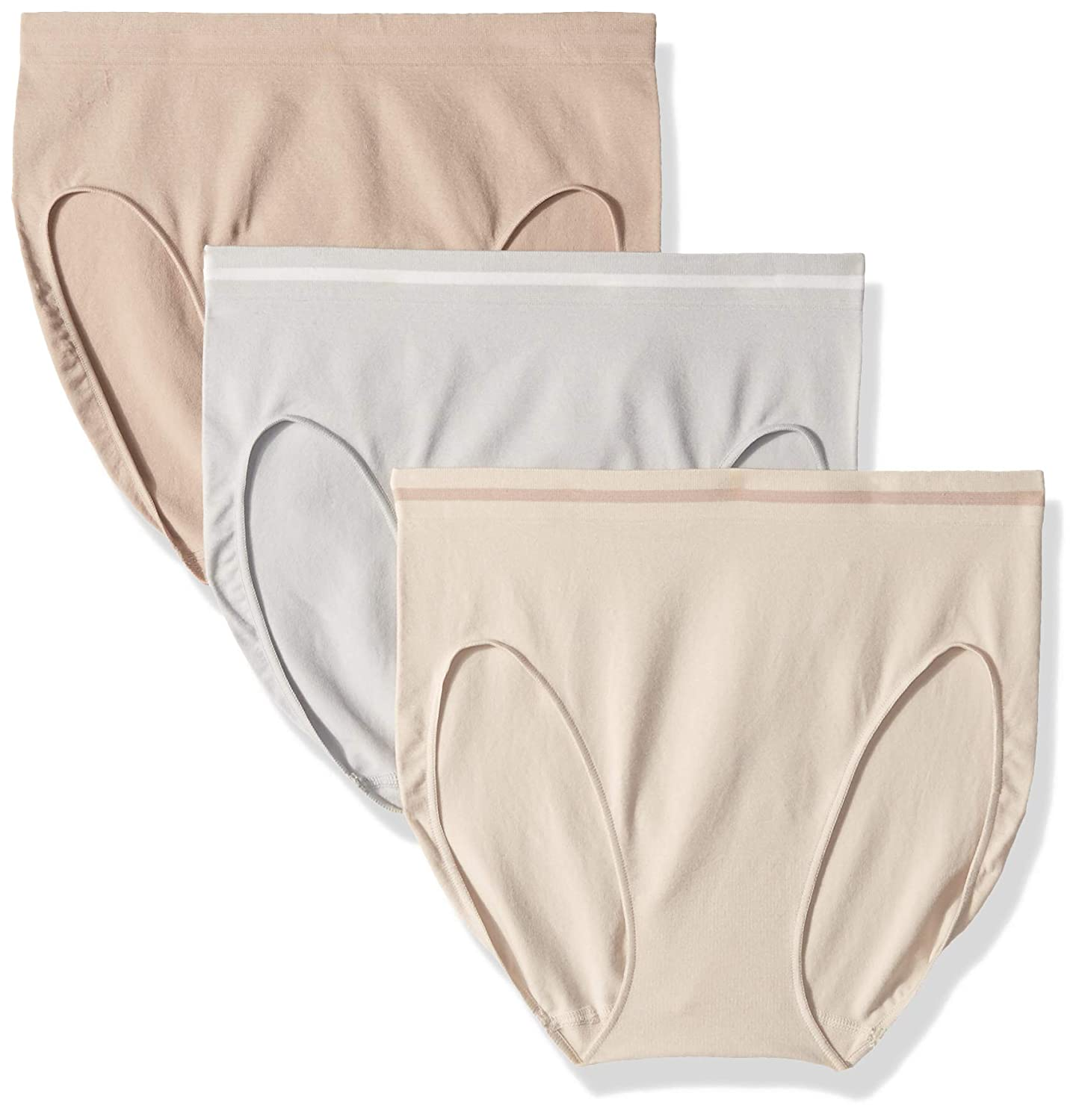 0e50d4d82358 Ellen Tracy Women's 3 Pack Seamless Tipping Hi Cut Panty: Amazon.in:  Clothing & Accessories