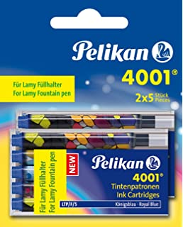 LAMY Füllhalter 338293 LTP//F//5 5 Pelikan Tintenpatronen königsblau Patrone f