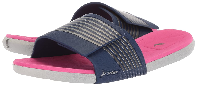 Rider Women's Prana Slide B(M) Sandal B076MV6CDD 10 B(M) Slide US|Grey/Blue/Pink 365b3a