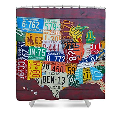 Amazon License Plate Map Of The United States Waterproof