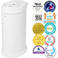 Ubbi Steel Diaper Pail, White