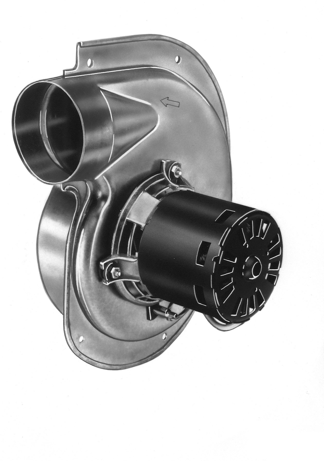 Fasco A141 3.3'' Frame Shaded Pole OEM Replacement Specific Purpose Blower with Ball Bearing, 1/60HP, 2,800 rpm, 115V, 60 Hz, 1 amps