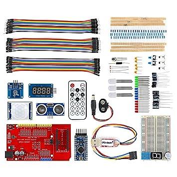 Mecotech Pro Mini BreadBoard Kit Multifuncional con Placa de Expansión IO Sensor Module Resistores Zumbador Jumper