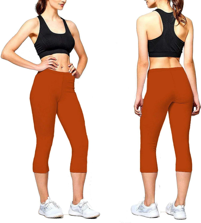 Papaval Kids Girls Plain Cropped Length 3//4 Legging Dance Children Brown Black Ages 2-14